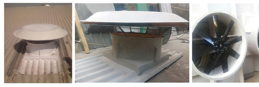 Motorized Roof Extractor Round Shed Roofing Sheet